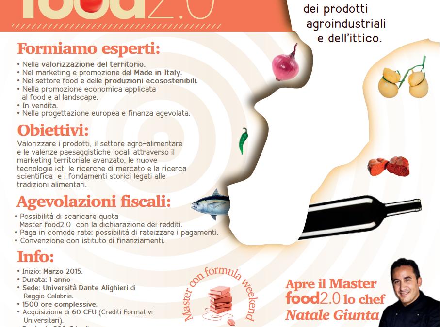 """Master Universitario di I livello denominato """"Masterfood 2.0"""""""