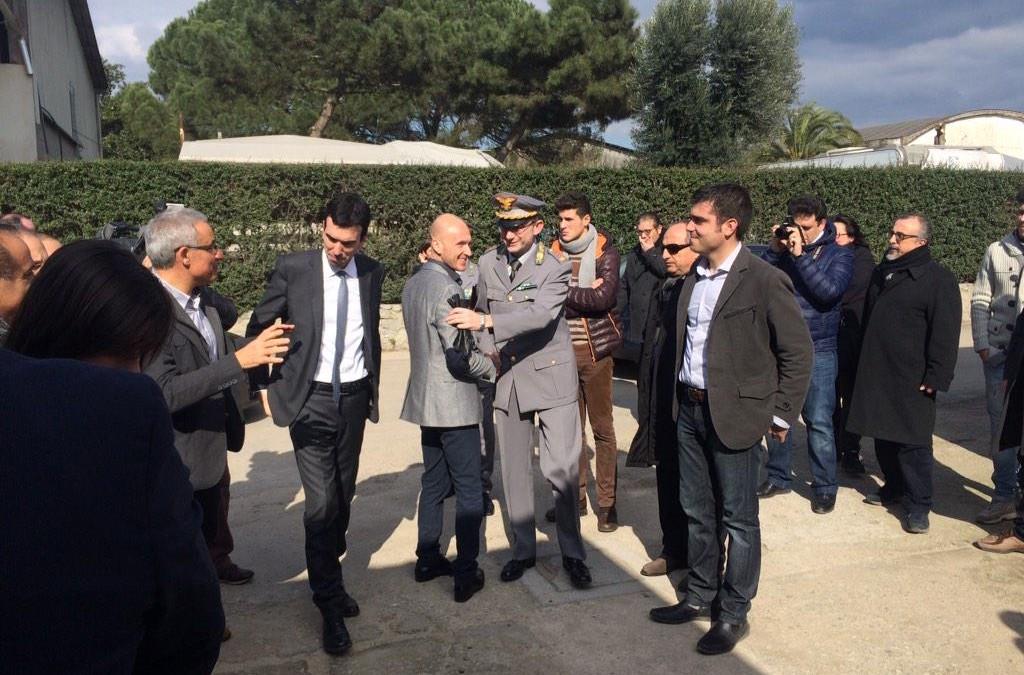 Il ministro Martina a Rosarno in una delle nostre cooperative